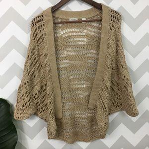Halogen bohemian minimalist crochet cardigan